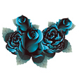 Blue Roses2 vector image vector image