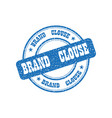 blue the logo brand clothing on a white background vector image