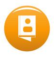 book icon orange vector image vector image