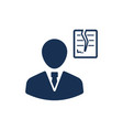 businessman tearing contract part icon vector image