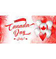 canada day glittering fireworks vector image vector image