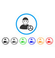car driver rounded icon vector image