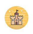 castle medieval fortress icon vector image