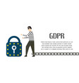 character design with gdpr concept isolated on vector image vector image
