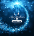 Christmas blue background vector image vector image