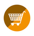 color circular emblem with shopping cart icon vector image vector image
