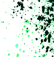 Colorful acrylic paint splatter on white backgroun vector image vector image