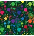 Colorful floral cartoon seamless background