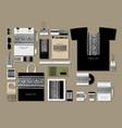corporate flat mock-up template floral mandala vector image vector image