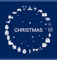 creative christmas icon background vector image