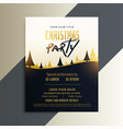 creative christmas party invitation flyer design vector image vector image