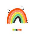 creative playful rainbow artistic design vector image vector image