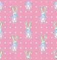 cute rainbow cartoon bunny rabit with dots vector image