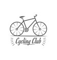 cycling club logotype vector image vector image