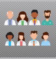 doctor avatar medical staff icons vector image vector image