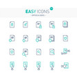 easy icons 17e docs vector image vector image