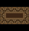 ethnic carpet with armenian vintage ornament in br vector image vector image