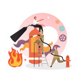 fire protection services concept for web vector image vector image