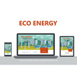 flat alternative eco energy concept vector image vector image