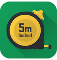 flat icon toy construction tape measure vector image