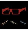 Glasses icon set vector image vector image