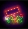 glow nameplate on lawn and flowerbed vector image