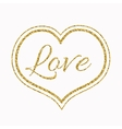Gold Glitter Heart on White Background for a vector image