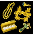 Golden jewelry as a decoration and for gambling vector image vector image
