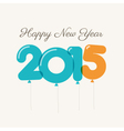 happy new year 2015 card balloons type vector image vector image