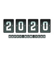 happy new year 2020 flip board design for holiday vector image vector image
