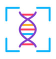 human dna testing icon outline vector image