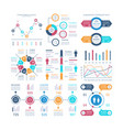 infographic charts infochart elements marketing vector image