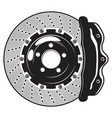 isolated monochrome car brakes vector image vector image