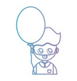line man with hairstyle and balloon design vector image vector image