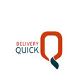 logo for quick delivery service vector image
