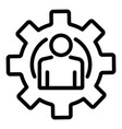 man in gear icon outline style vector image vector image