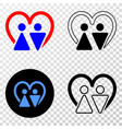 married persons eps icon with contour vector image