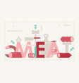 meat typography poster vector image
