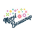 merci beaucoup french thank you greeting card vector image vector image