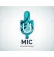 Microphone logo business branding icon vector image