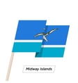 Midway Islands Ribbon Waving Flag Isolated on vector image vector image