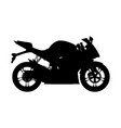 motorcycle silhouette sport bike vector image