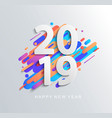 new year 2019 design card on modern background vector image vector image