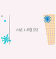 nice day snow winter christmas snowflake card vector image vector image