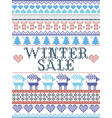 nordic seamless christmas pattern winter sale vector image vector image