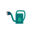 plastic watering can - cute symbol of gardening vector image vector image