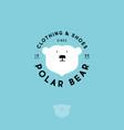 polar bear logo clothing shoes emblem vector image