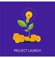 Project Launch Concept Art vector image