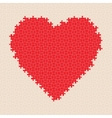 Puzzle heart pattern vector image
