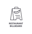 Restaurant billboard line icon outline sign